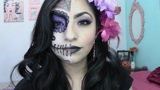 Maquillaje Para Dia De Muertos Catrina Mitad De La Cara Free