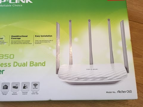 tplink archer c60 ac1350 wireless wifi dual band cable router and access point review + unboxing