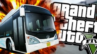 HAIL TO THE BUS DRIVER (Moon gravity) | Grand Theft Auto V (Next Gen Gameplay) #4
