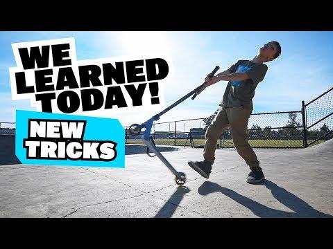 WE LEARNED TODAY! - Harrisburg Oregon Skatepark - Scooter Triple Tailwhip Challenge!