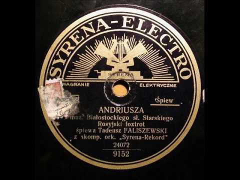 Old Polish-Russian Foxtrot-Tadeusz Faliszewski-Andriusza-1933!