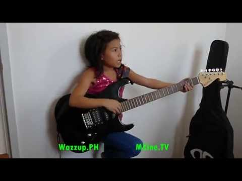 Lyca of the Voice Kids Sings Medley of Songs with her electric guitar in her New House