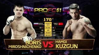 Полусредний вес (до 77кг) Борис Мирошниченко (Беларусь) vs Хамди Кузгун (Турция)