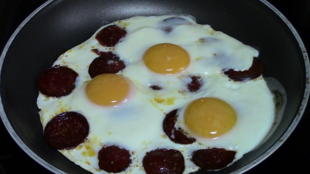 CHORIZO CON HUEVO | recetas de cocina faciles rapidas y economicas de hacer - comidas ricas
