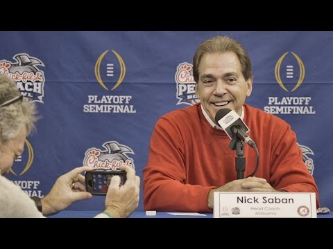 Nick Saban's entire Peach Bowl media day interview