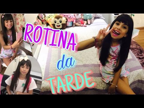 MINHA ROTINA DA TARDE