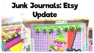 Junk Journal Flip Through: Etsy Update: Handmade Journals