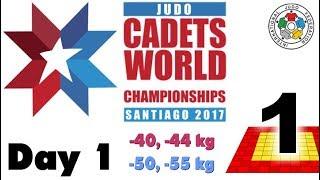 World Judo Championship Cadets 2017: Day 1 - Tatami 1
