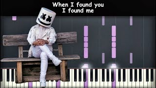 Marshmello   Rescue Me Ft  A Day To Remember | Piano Cover | Instrumental Karaoke