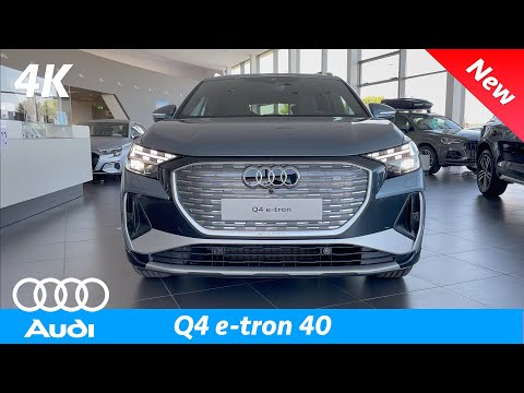 Audi Q4 e-tron 2021 - CRAZY Matrix LED headlights! All 4 Digital signature patterns demonstration