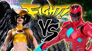 Hawkgirl vs. Red Power Ranger! HIGH FLYING FIGHT TOWN ~ Ultimate Smash House ~ pocket.watch jr.