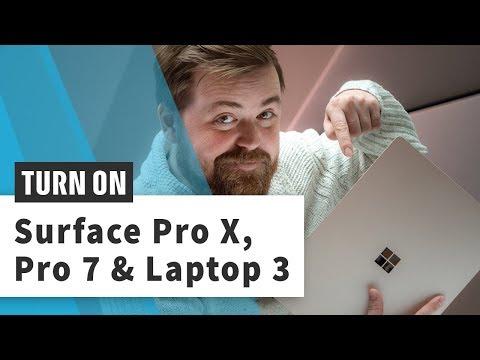 Surface Pro X, Laptop 3 und Pro 7 im Hands-On