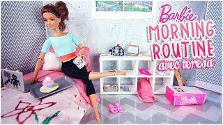 Barbie poupée chambre routine du matin l Barbie doll Bedroom Morning Routine