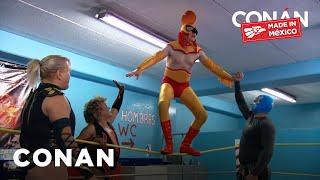 Conan Trains As A Luchador
