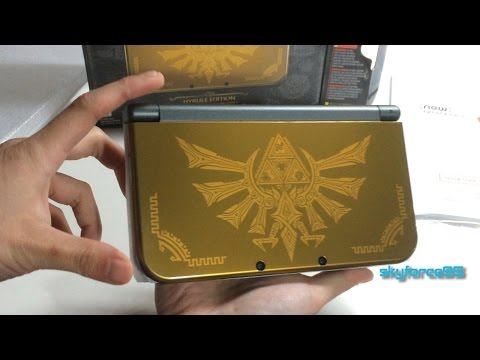 New Nintendo 3DS XL Hyrule Gold Special Edition Unboxing