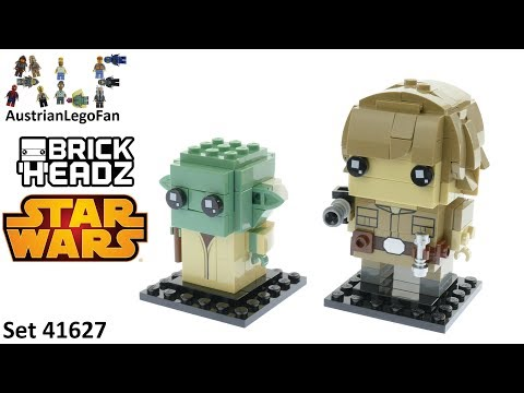 Vidéo LEGO BrickHeadz 41627 : Luke & Yoda