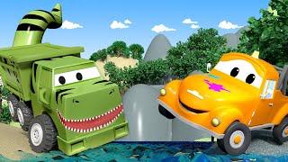 Autogaráž pro děti - Z Ethana je T-Rex - Tomova Autolakovna ve Městě Aut