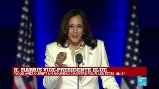 REPLAY – Discours de Kamala Harris, vice-présidente élue des États-Unis