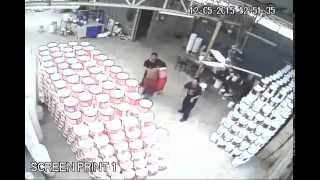 Nepal earthquake (7.4) live CCTV footage of plastic bucket manufacturing factory !!