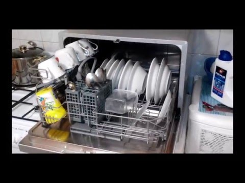 Посудомоечная машина Candy CDCF 6S Отзыв с субтитрами