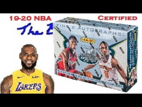 2019-20 Certified NBA Trading Cards Hobby Box Opening 19-20 Basketball at Joe's Card Shop in Phoenix
