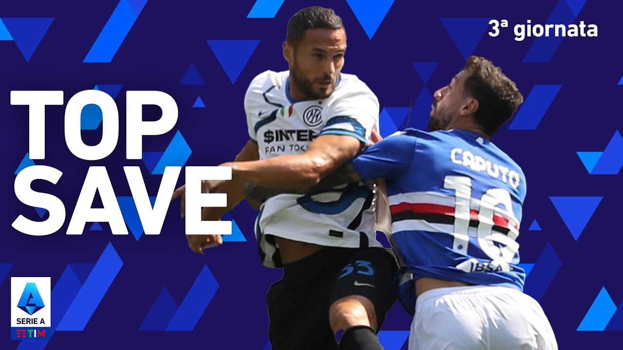 La straordinaria parata di D'Ambrosio! | Sampdoria 2-2 Inter | 3ª Giornata | Serie A TIM 2021/22
