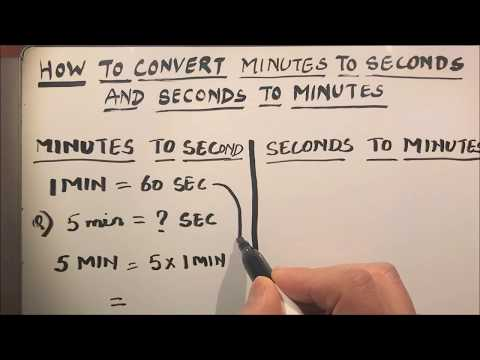 Minutes To Seconds Conversion Practice Expii