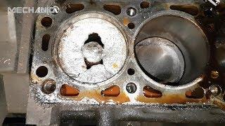 Жесть на СТО. #7. Смерть мотора! Пробило поршень.  Приколы на СТО!