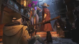 Resident Evil 8 Village Lady Dimitrescu with Latex Swimsuit & Femaly Costume Mod All Cutscenes