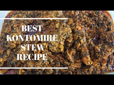 THE BEST PALAVA SAUCE / KONTOMIRE STEW RECIPE