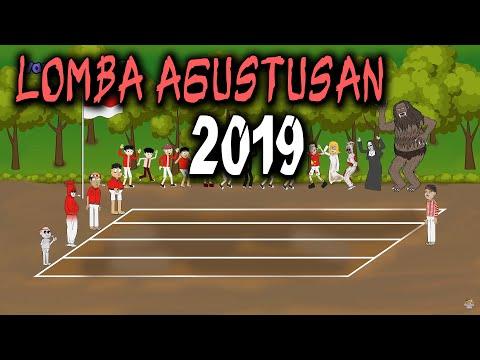 Lomba agustusan 2019 lucu   manusia vs hantu   animasi horor kartun lucu   warganet life