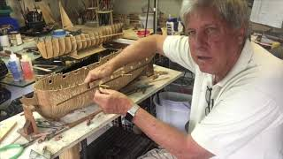 Clamps for attaching planks on model wooden ships by Kevin Kenny.