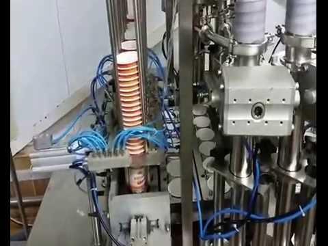 Шестирядный автомат модель TDP-3L-6 для фасовки пастообразных/жидких или сыпучих продуктов