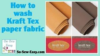 Kraft Tex - Pre-washing Comparison