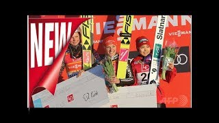 高梨沙羅が3位入賞表彰台、スキージャンプw杯第3戦