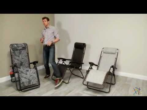 Video Modern Mesh Zero Gravity Lounge Chair - Product Review Video