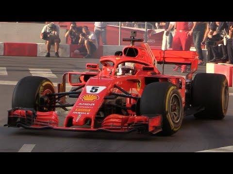 F1 Milan Festival 2018-SF71H,Sauber C32,FXXK EVO,AMG GTR & More+Vettel Crash