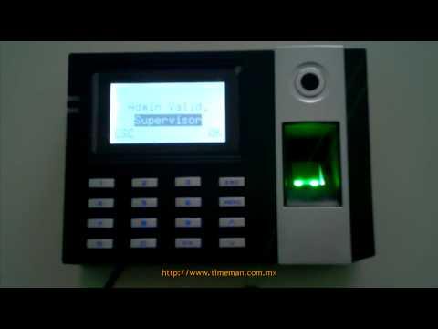 Reloj Checador E9 [Parte 3] - Alta de Administrador | ZKSoftware | Huella Digital