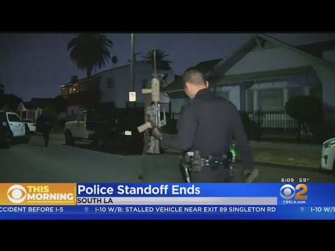 Suspect At Large After South LA Standoff, Rifle Recovered