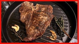 Cooking the Best T Bone Steak on the Stove & Oven |  Pan seared, butter basted and Baked