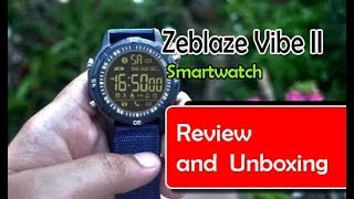 Zeblaze Vibe II (2) Smartwatch Review and Unboxing