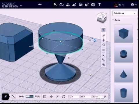 Create Customized Trophy with 123D Design Online
