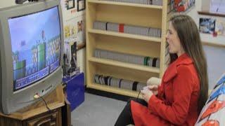 Anastazia Nichole playing Mario