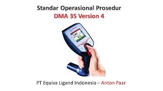 SOP DMA 35 V4 (Portable Density Meter) - Anton Paar