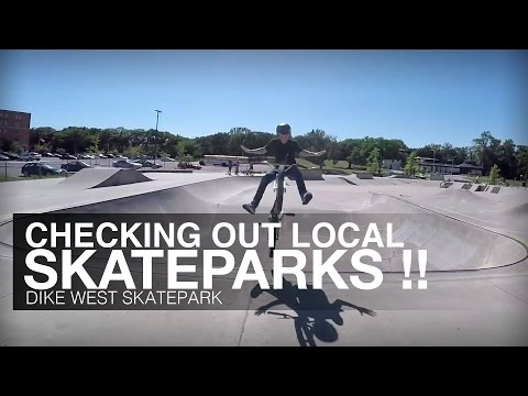 Checking Out Local Skateparks !! Dike West Skatepark Fargo, ND - The Show Must Roll On: Episode 8