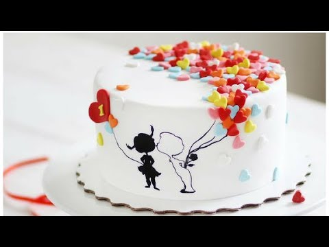 Wedding anniversary cake decorating for beginner|Romantic personalised wedding cake topper tutorial