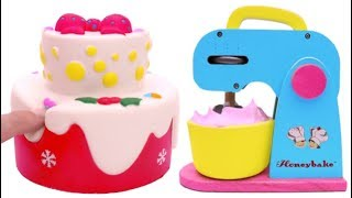 Learn Colors with Squishy Strawberry Cake and Kitchen Playset for Kids - Rainbow Learning