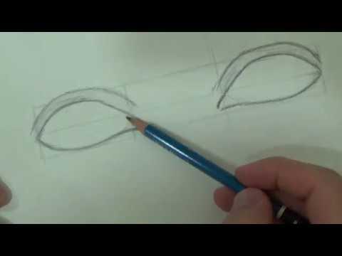 تعليم الرسم للمبتدئين كيفية رسم العيون بطريقة سهلة جدا