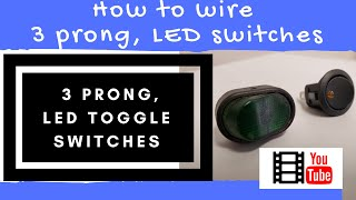 How to wire an LED toggle switch , ( on-off 3 prong rocker switch ) 2020