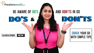 Do's and Don'ts in a GD - Group Discussion tips from Freshersworld.com